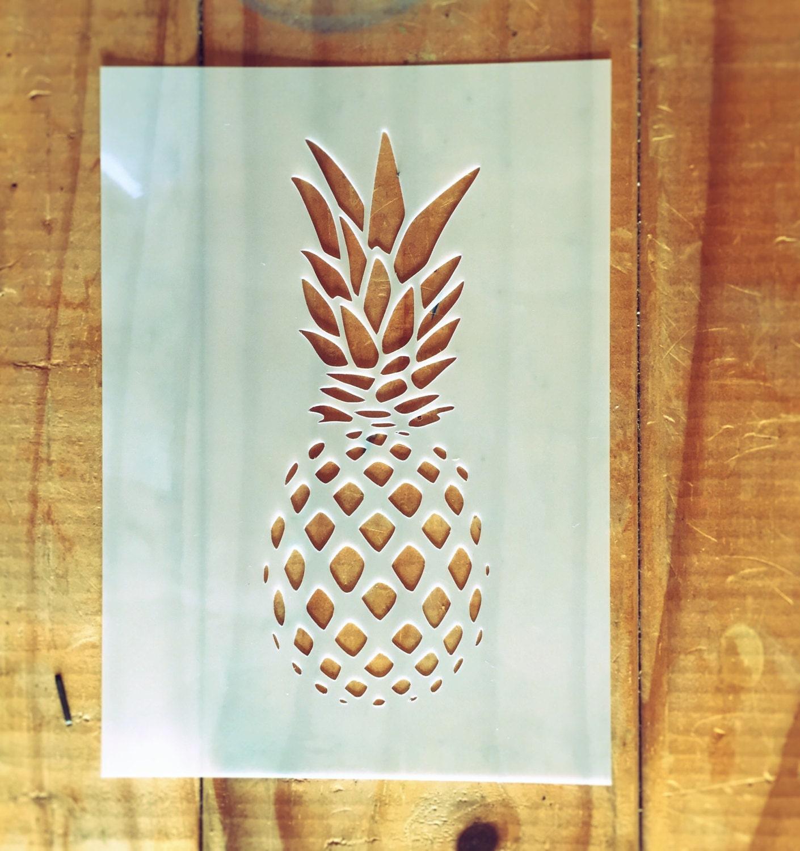 Ananas Schablone für Inneneinrichtung Haus Wand /