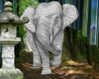 Sumatran Elephant Print