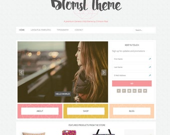 WordPress Ecommerce Theme -  Genesis Child Theme - Ecommerce WordPress Theme - Responsive WordPress Theme - Woocommerce Theme: Blomst