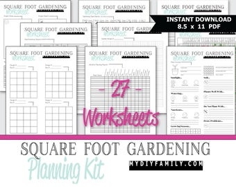 Universal image inside garden planning worksheet