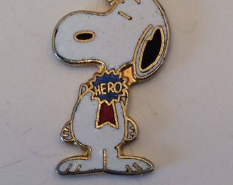 Vintage Snoopy Hero Charm for your Bracelet or Pendant