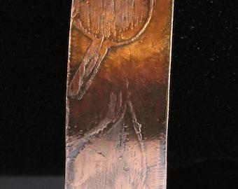 Etched Copper Cuff Bracelet (022017-048)