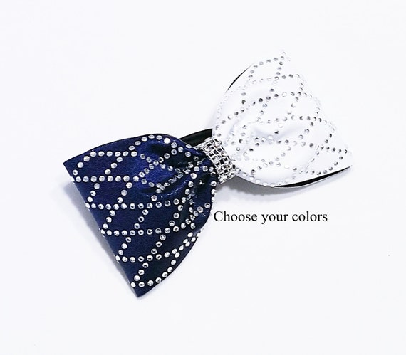 Tailless cheer bow Cheer bows Diamond cheer bow rhinestone