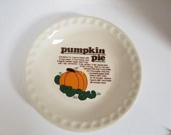 Ceramic Pumpkin Pie Plate with Recipe & Pumpkin pie plate | Etsy