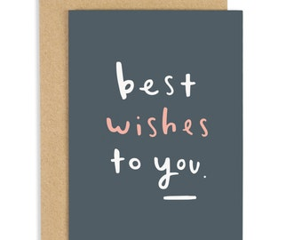 SALE: Best Wishes To You Card - Love card - Sympathy card - Thinking of you card - CC72