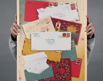 """Letters from Home Screenprinted Poster - 18"""" x 24"""""""