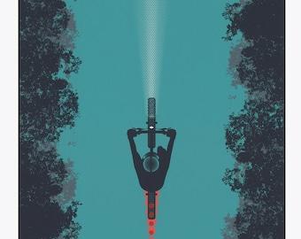 The Beacon - ARTCRANK Minneapolis Screen Printed Bike Art Poster 18x24