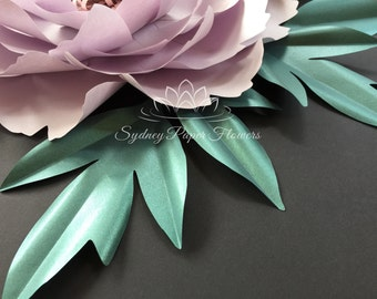 PEONY paper flower LEAF template pdf svg pattern for Cameo and CriCut/Paper flower leaf template/DIY how to make a paper flower leaf