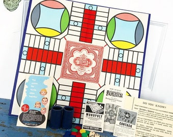 Vintage Parcheesi Game 1960 Board Game Backgammon Game India