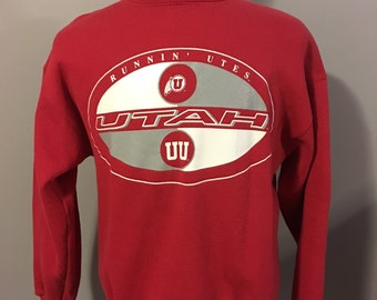 Vintage University of Utah Sweatshirt, Size:  Large