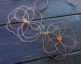 Wire Art Wall Flowers For Room Decorating, Custom Colors
