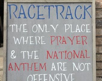Farmhouse Racing Sign