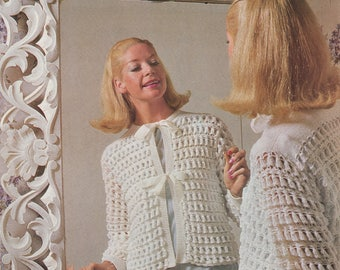 Vintage 1960's Bed Jacket Pattern | Hard Copy Vintage Knitting Pattern | Sirdar 2161