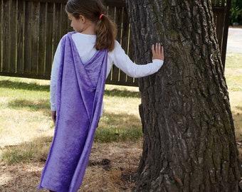 Light Purple Child Costume Cape - Lavender Girls Cape - Dress-up Cape - Queen Cape - Princess Cape - Fairy Cape - Halloween Cape