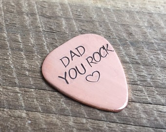 Personalized Gift for father, Dad You Rock Guitar pick, Dad guitar pick, Gift for DAD, Father's day Gift, Dad Gift You rock dad Personalized