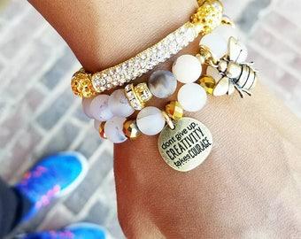 Beaded bracelet stack bracelet stack stack of bracelets bracelet set gift for her wrist candy gift for her best friend gift bracelets gift