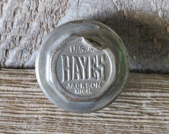 Brass Hayes Hubcap - Item 68