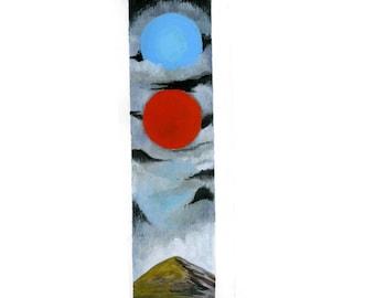 Sky Symbols Above the Mountain original painting