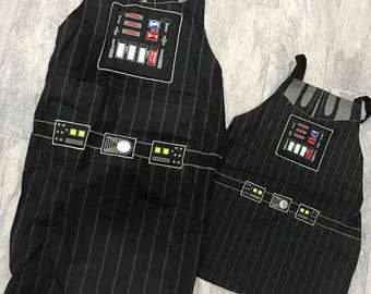 Star Wars Apron, Father Son Star Wars Grill Apron, Darth Vader Grill Apron, Personalized Star Wars Father & son aprons