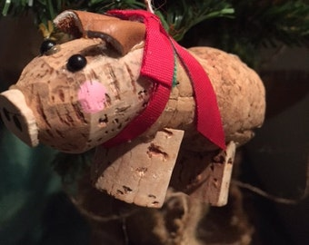 Wine Cork Pig Made mainly with Champagne Cork