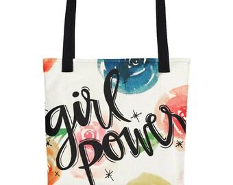 "floral ""girl power"" bag"