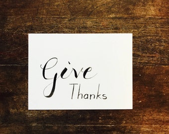Give Thanks, Thanksgiving, Send Someone a Card, Letter, Be Thankful, Fall Greeting Card, Autumn, Place Cards, Seating