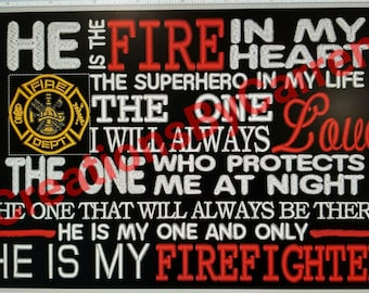 He is the fire in my heart machine embroidery design, pes, hus, dst only