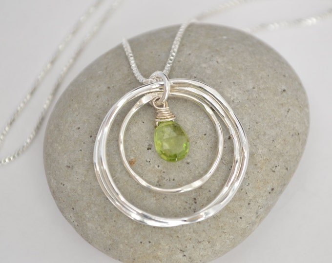 August necklace, August birthstone, Peridot necklace, 30th birthday necklace, 30th birthday gift, Sisters necklaces, Gemstone jewelry