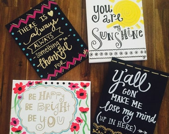 Customizable Hand-Painted Canvas