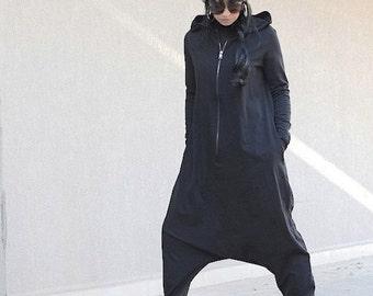 Adult onesie, adult onesie pajama, Hoodie, onesie, hooded jumpsuit, jumpsuit romper, black jumpsuit, cotton jumpsuit, baggy jumpsuit