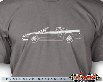 Honda Acura NSX 1990 Top Off T Shirt For Men   Lights Of Art