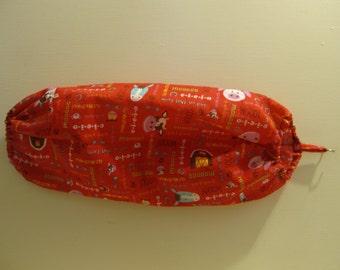 Red Farm Animals Barn Grocery Shopping Plastic Bag Organizer Holder