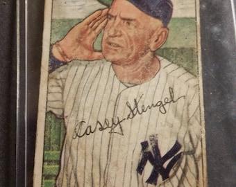1952 Bowman Chewing Gum Casey Stengel New York Yankees #217