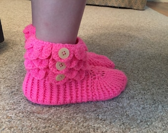Button up kids booties