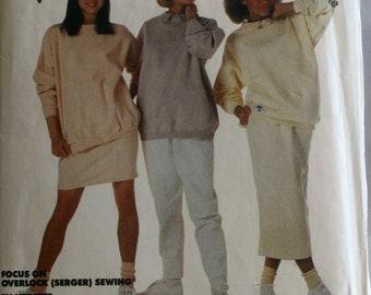 Misses Sweatshirt Sewing Pattern - Misses Skirt Sewing Pattern - Misses Pants sewing Pattern - McCalls 3269 - Size Petite Small 10-12