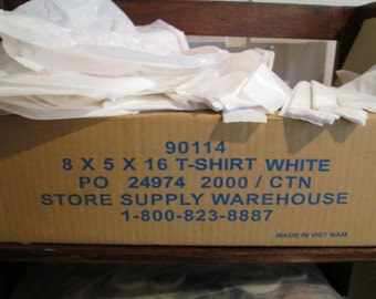 T shirt merchandise bags 8 inches X 5 inches X 16 inches almost 2000 in box