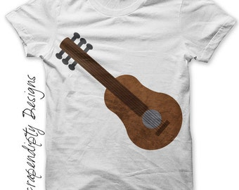 Guitar Iron on Transfer - Music Iron on Shirt PDF / Kids Guitar Shirt / Toddler Hippie Tshirt / Boys Musical Printable / Mens Music IT199