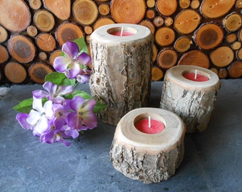 Chestnut Tree Branch Candle Holders...