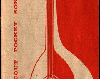 Girl Scout Pocket Songbook + 1956 + Vintage Sheet Music Book