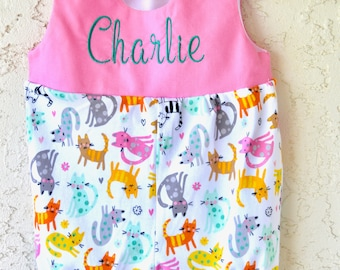 Personalized baby romper baby's 1st birthday outfit baby girl shower gift