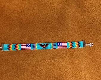 Thunderbird USA Loom Beaded Bracelet