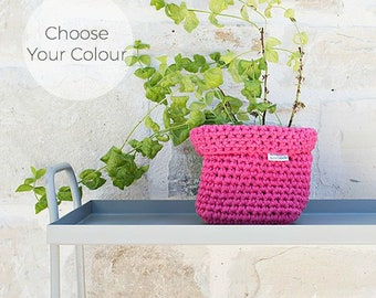Crochet Square Basket - Choose Your Colour