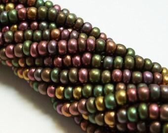 8/0 Czech Glass Seed BeadHank - Copper Rainbow Metallic - No. 1006