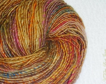 Sugar Baby Handspun Art Yarn - 174 yards - Single Ply - Knitting - Crochet - Weaving - Fiber Arts - Textile Arts - Mixed Media, etc.