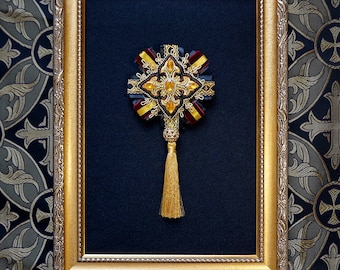 Cult Treasures Rosette black and gold / lolita, ouji rosette