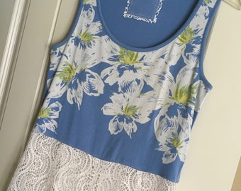 Upcycled Recycled Repurposed Altered Summer Beach Cover-up Dress