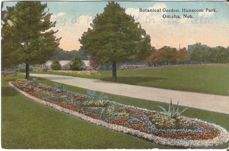 Botanical Garden Hanscom Park Omaha Nebraska Vintage Postcard