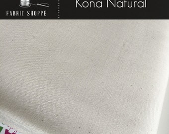 Kona cotton solid quilt fabric, Kona NATURAL 1242, Ivory fabric, Solid fabric Yardage, Kaufman, Cotton fabric, Choose the cut