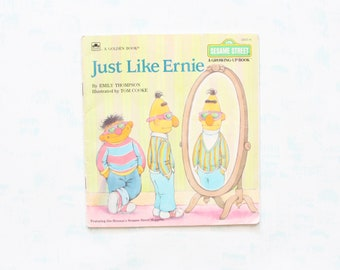 Just Like Ernie Sesame Street Paperback Picture Book from 1988