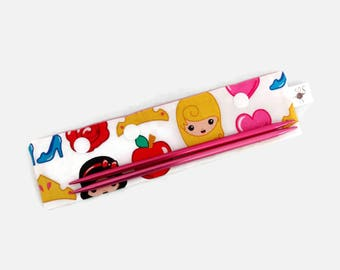 "Small DPN Holder Disney Emojiland Princess DPN Circular Project Holder for needles up to 7-1/2"" long S436"